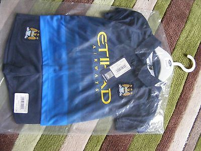 Baby boys Manchester City football top & shorts set Navy - AWAY - 9-12 mth BNWT