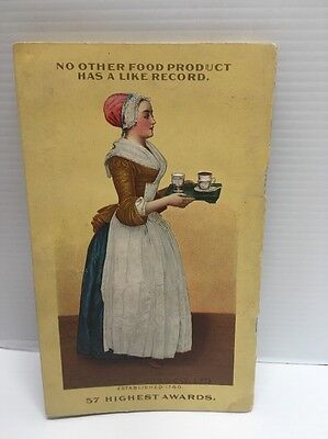 Vintage (c. 1916) Walter Baker & Co Ltd Chocolate & Cocoa Recipes - Miss Parloa