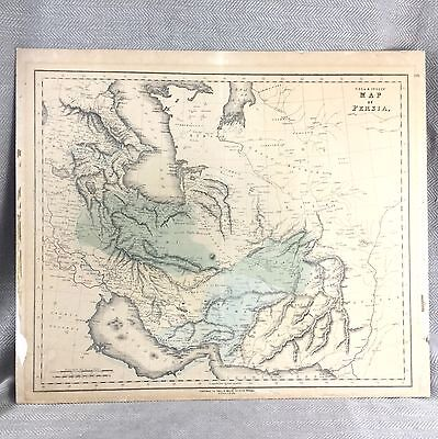 Antique Map of Persia Gall & Inglis 19th C Middle East Arabian Sea Gulf