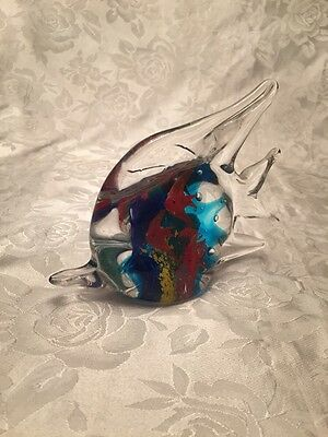 Art Glass Fish Sculpture Paperweight