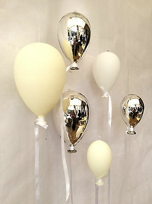 Ceramic Glass Balloon Hanging Party Wedding Venue Decoration 3 Sizes / Colours