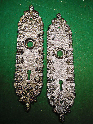 PAIR of HEAVY CAST STEEL VICTORIAN BACKPLATES - BEAUTIFUL  (9060)