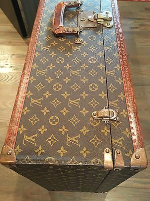"Louis Vuitton ""Le Fly-El"" Antique Suitcase Monogram Trunk LV Bag Bisten Alzer 80"