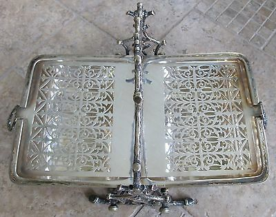 Antique Fenton Brothers Silver Plate Biscuit Box Bun Warmer Staniforth Patent