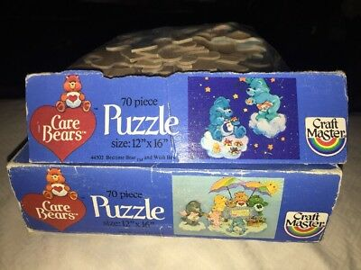 Vintage Lot Of (2) 1983 Care Bear Puzzles