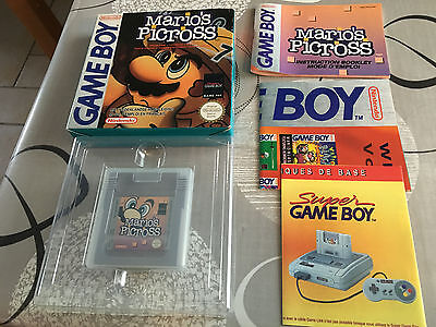 Jeu Nintendo Gameboy Game Boy Mario's Picross Comme Neuf Complet