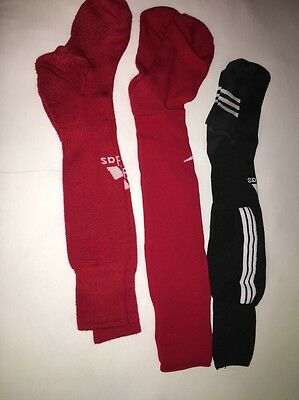 Lot Of 3 Boys Red And Black Adidas Nike Socks