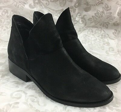 Eileen Fisher Women's Leaf Black Suede Booties Ankle Boots Size 9