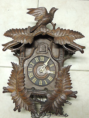 Antique Black Forest Cuckoo Clock In Working Condition
