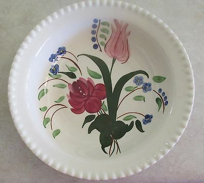 """Blue Ridge Pottery """"Bluebell Bouquet"""" 9-in. Round Serving Bowl"""