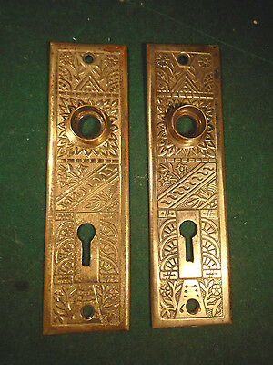 Nice Cast Brass Eastlake Victorian Backplates - Circa 1895  (8858-1)