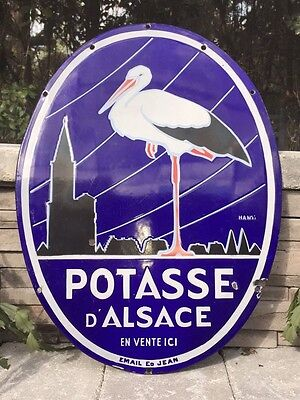 Rare French Enamel Advertising Sign (Potasse D'Alsace)//Antique//Vintage