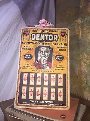 Swiss Dentor Tooth Ache Drops Advertising Poster//Antique//Vintage