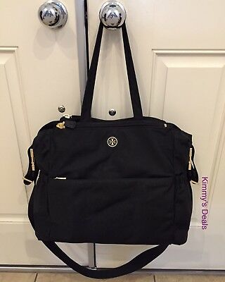Tory Burch Robinson Nylon Baby Bag Diaper Bag In Black MSRP $395 Authentic