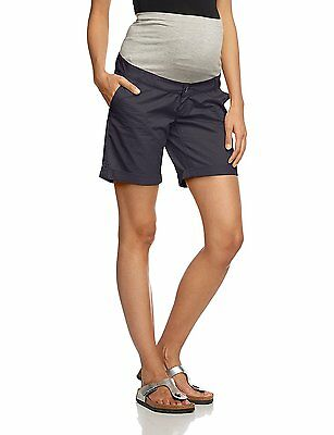 Mamalicious Maternity Grey 'andrea' Cotton Safari Shorts Size S Uk 8 Bnwt
