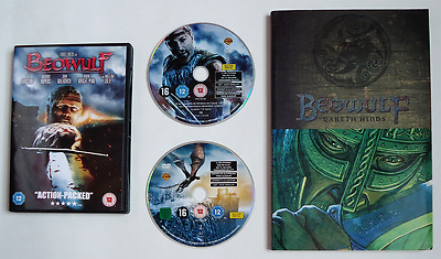 Beowulf Graphic Novel and 2 Disc DVD Film - Gareth Hinds Angelina Jolie Comic