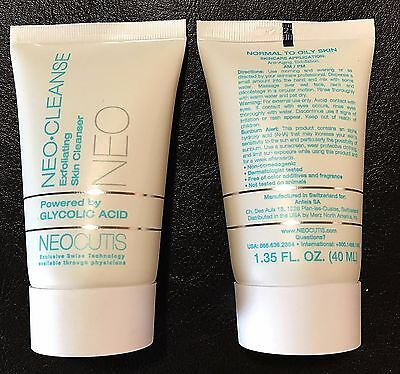 Neocutis TWO Neo-Cleanse Exfoliating Cleanser, 1.35 oz, New, Authentic,