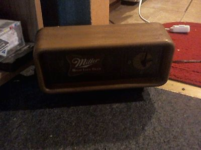 vintage miller high life lighted clock