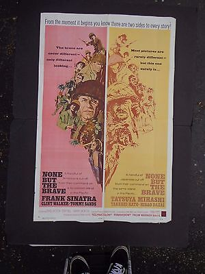 *    NONE BUT THE BRAVE-FRANK SINATRA  1 SHEET movie POSTER  1965