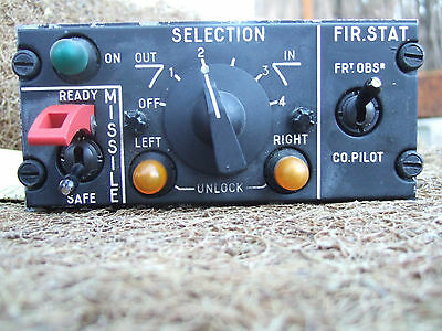 Breguet Atlantic Aircraft MISSILE FIRING STATION control panel NATO Atlantique