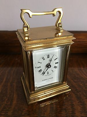 Mappin & Webb Brass Carriage Clock, working