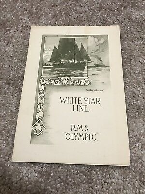 White Star Line RMS Olympic Menu