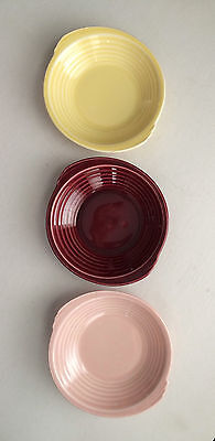 "Set of 3 Vintage Edwin M. Knowles China Co.-Yorktown 6 1/2"" Dessert Bowls-Deco"