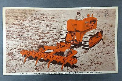 1955 Allis-Chalmers Model HD-5 Tractor & Model 400 Tool Carrier Ad Postcard