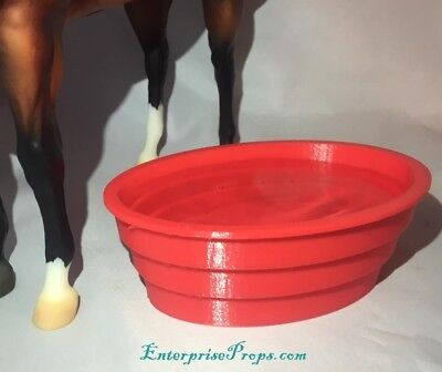 40 Gallon Water Trough For 1/9 scale Traditional Breyer Model Horses ANY COLOR