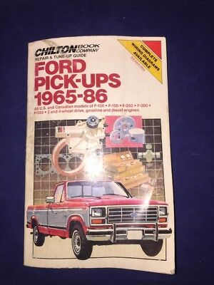 Chilton Repair And Tune-Up Guide Ford Pick-Ups 1965-86 #6913