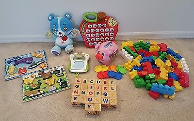 Baby Toddler Learning Toy Lot - Vtech Fisher Price LeapFrog Wooden Toys - Huge
