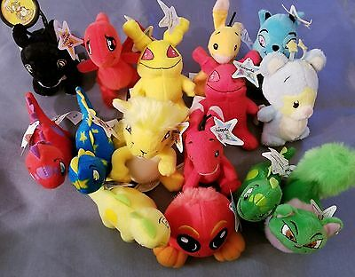 2004 Mcdonalds Neopets Lot Of 15 Plush Stuffed Animals - With Tags