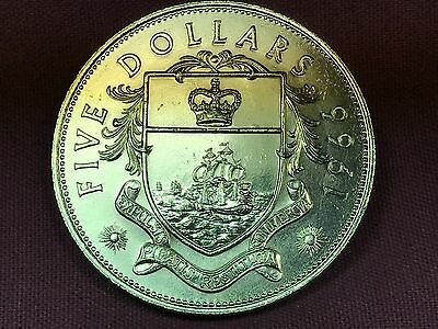 T2: World Coin Bahamas 1966 5 Dollar .925 Silver