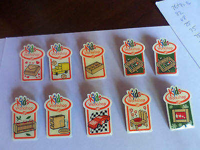 Home Depot Kids Workshop Pins Lot of 10