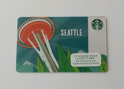 Starbucks Space Needle Seattle city Gift Card New Limited release 2014