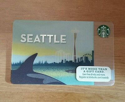 Starbucks 2015 Seattle Gift Card One Unswiped, Unused Seattle City Card. NEW!