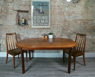 Vintage mid century 1960s large G-PLAN teak extending dining table LDN DELIVERY