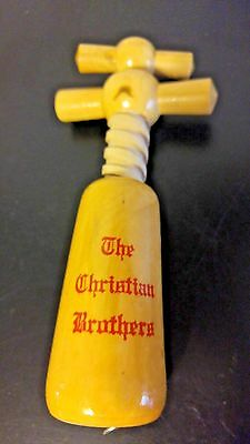 CHRISTIAN BROTHERS VINTAGE CONNOISSEUR Wooden Corkscrew #550  Made in FRANCE