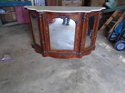Antique Victorian Marble Top Hall Table