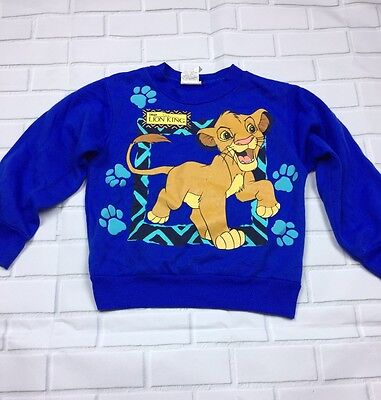 Vintage 90s Toddler Boys Girls Lion King Disney Simba Sweater 3T 4T