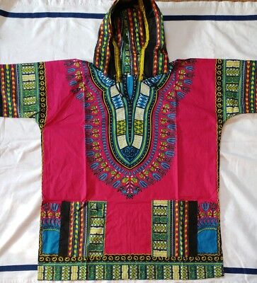 dashiki men's women's african shirts with hoodie Size L  100% Cotton Tailandia