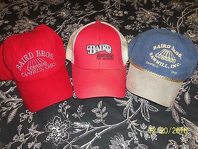 Baird Brothers , Canfield, Ohio, ( Lot Of Three) Used Caps