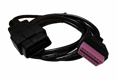 1.5M Long Length OBDII Male To OBDII Female Diagnostic Extension Purple Cable