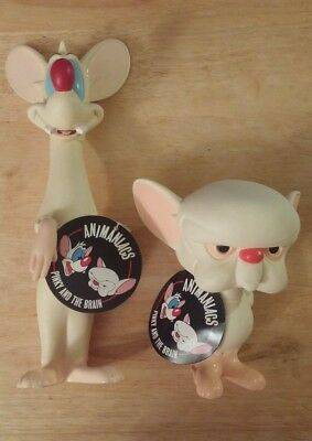 Pinky and the Brain Mice Mouse PVC Figures Figurine Warner Bros Store Animaniacs