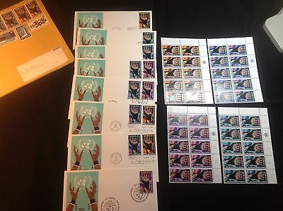 United Nation First Day Issue And Mint Block Stamps Sets