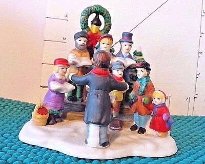 Christmas Dickens Collectible, 1997,Choir, Adults& Children, Conductor w/Lecturn