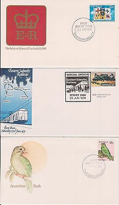 (K38-1) 1979-83 AU mix of 26 FDC & PSE mixed condition (some toning) (1A)