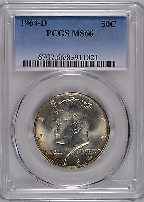 1964-D 50C Kennedy Half Dollar PCGS MS-66 #176926