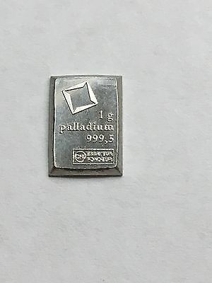 A One Gram bar of Palladium!!! ~~Everybody should hold a piece of every metal!!!