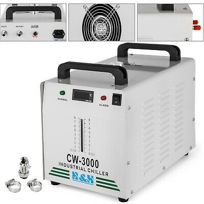 US!! CW-3000DG Industrial Water Chiller for 60W /80W CO2 Laser Tube Cooler 220V